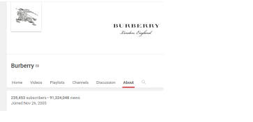 burberry youtube